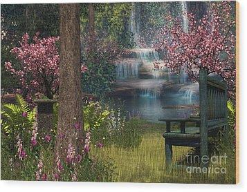 Garden Background Wood Print