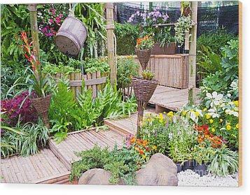 Garden Beautiful Wood Print by Boon Mee