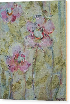 Wood Print featuring the painting Garden Bliss by Mary Wolf