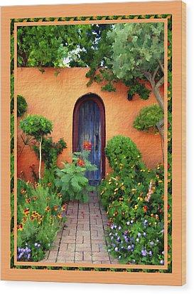 Garden Delights Mesilla Wood Print by Kurt Van Wagner