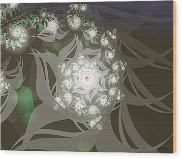 Wood Print featuring the digital art Garden Echos by Elizabeth McTaggart