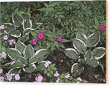 Garden Flowers Wood Print by Donald Williams