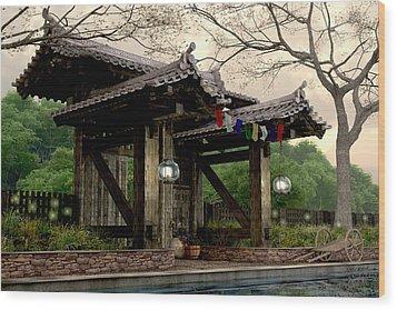 Garden Gate Wood Print by Cynthia Decker