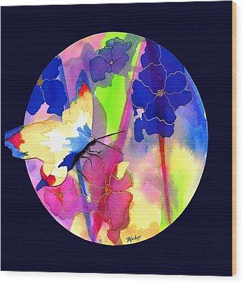 Garden Gate Mandala Wood Print