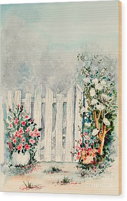 Garden Gate Wood Print by Pattie Calfy