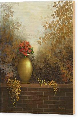 Garden Golds Wood Print