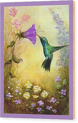 Garden Guest In Lavender Wood Print by Terry Webb Harshman