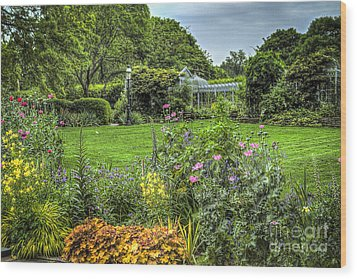 Wood Print featuring the photograph Garden In Bloom by Vicki DeVico