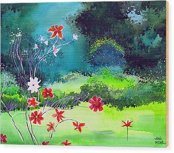 Garden Magic Wood Print by Anil Nene