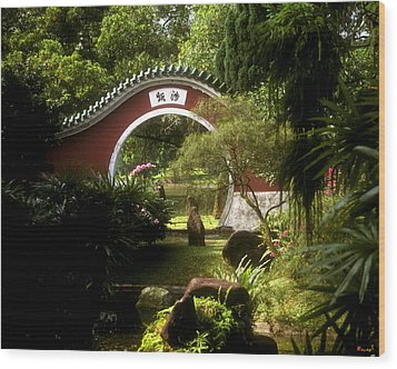 Garden Moon Gate 21e Wood Print