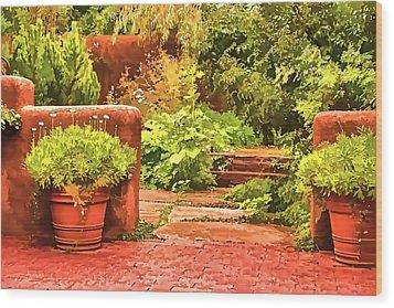 Garden Wood Print by Muhie Kanawati