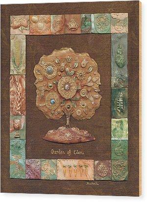 Garden Of Eden Wood Print by Michoel Muchnik