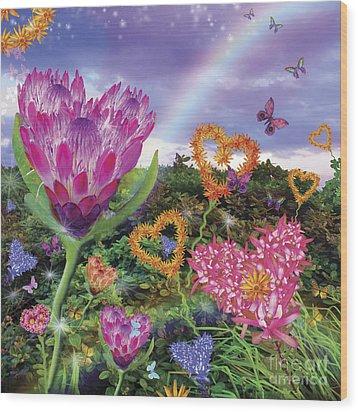 Garden Of Love 2 Wood Print by Alixandra Mullins