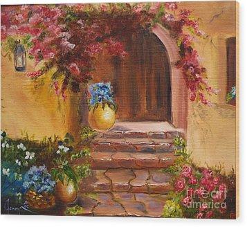Garden Of Serenity Wood Print