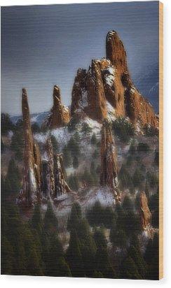 Wood Print featuring the photograph Garden Of The Gods by Ellen Heaverlo