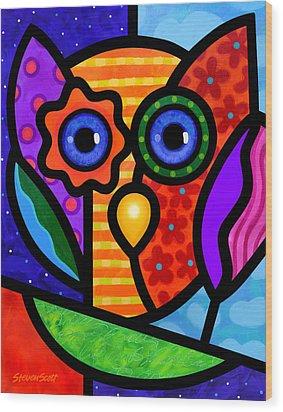 Garden Owl Wood Print