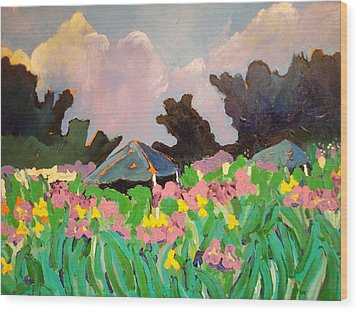 Garden Party 2 Wood Print by Rodger Ellingson