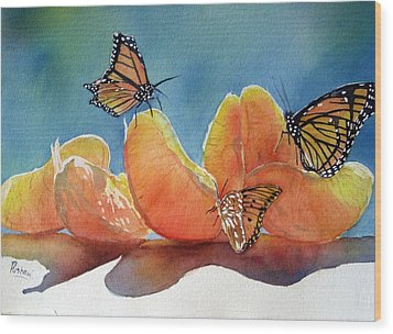 Garden Picnic Wood Print by Patricia Pushaw