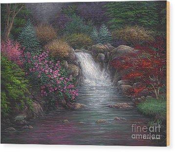 Garden Spring Wood Print by Chuck Pinson