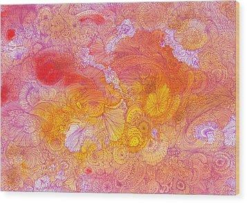 Garden - #ss14dw085 Wood Print by Satomi Sugimoto