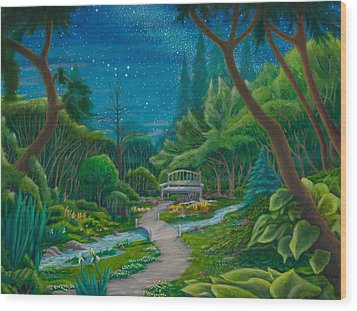 Garden Under Ursa Major Wood Print by Matt Konar