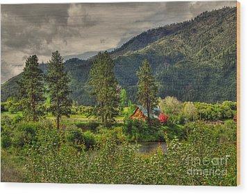 Garden Valley Wood Print