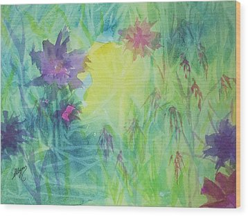 Garden Vortex Wood Print by Ellen Levinson