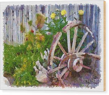 Garden Whhel Wood Print