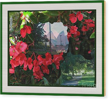 Wood Print featuring the photograph Garden Whispers In A Green Frame by Leanne Seymour