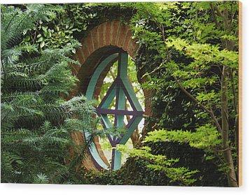 Garden Window Wood Print by Kim Pate