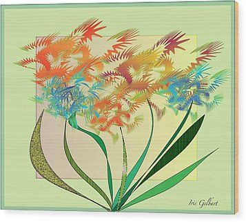 Garden Wonder Wood Print by Iris Gelbart