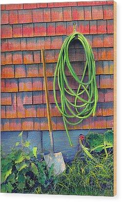Gardener's Rest Wood Print