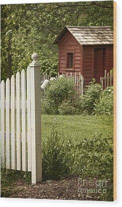 Garden's Entrance Wood Print by Margie Hurwich