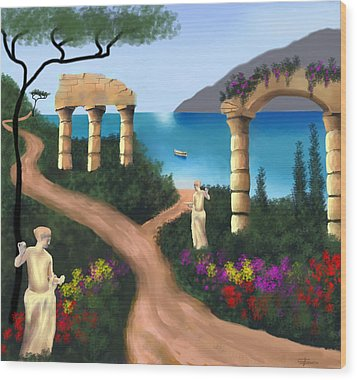 Gardens Of Venus Wood Print by Larry Cirigliano