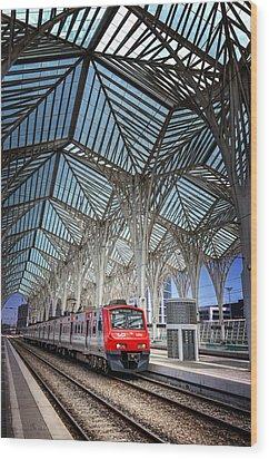 Gare Do Oriente Lisbon Wood Print by Carol Japp