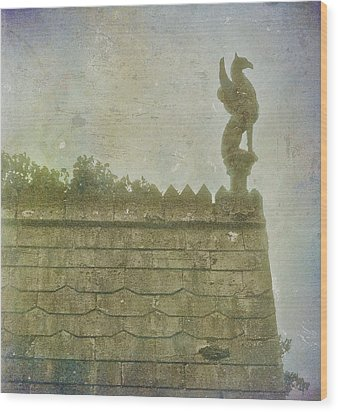 Wood Print featuring the photograph Gargoyle by Kandy Hurley