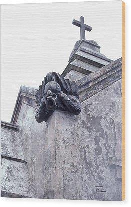 Wood Print featuring the photograph Gargoyle On The Italian Vault by Terry Webb Harshman