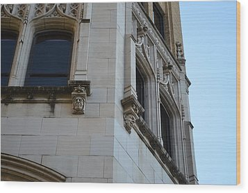 Wood Print featuring the photograph Gargoyles by Shawn Marlow