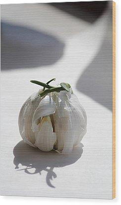 Garlic Clove Wood Print