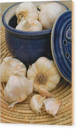 Garlic Wood Print by James Temple