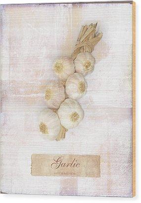 Garlic String. Wood Print by Mark Preston