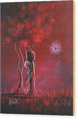 Garnet Fairy By Shawna Erback Wood Print by Shawna Erback