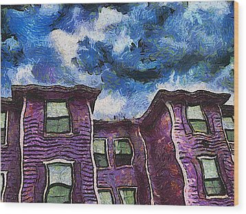 Garret Row Wood Print by Wendy J St Christopher