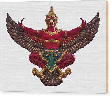 Garuda Wood Print by Tosporn Preede