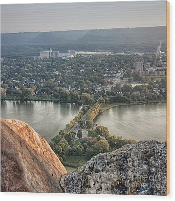 Wood Print featuring the photograph Garvin Heights View by Kari Yearous