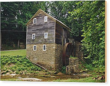 Wood Print featuring the photograph Garvines Grist Mill by Bob Sample