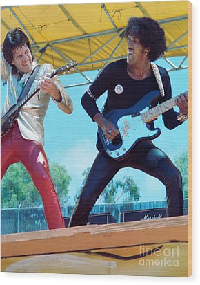 Gary Moore And Phil Lynott Of Thin Lizzy At Day On The Green 4th Of July 1979 - 1st Color Unreleased Wood Print