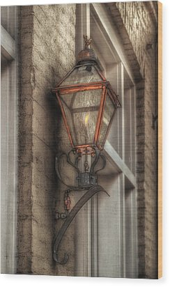Gas Light Of New Orleans Wood Print by Brenda Bryant