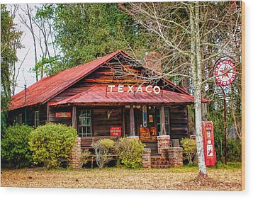 Wood Print featuring the photograph Gas Station 1 by Dawn Eshelman