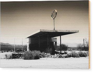 Gas Station Wood Print